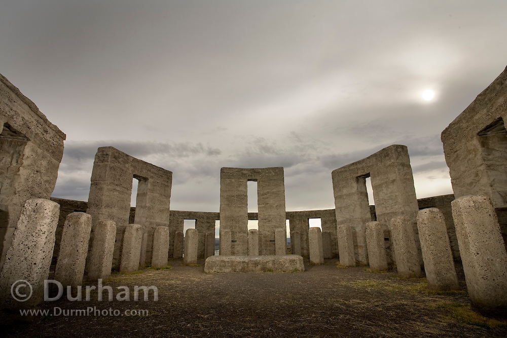 A replica of the English stonehenge, built near Biggs, Washington by Sam Hill, a famous Quaker pacifist. He dedicated this as a war memorial in 1918, although it wasn't completed until 1930.