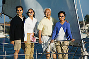 Couple Sailing with Parents