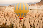 Hot-air balloon, Cappadocia, Turkey