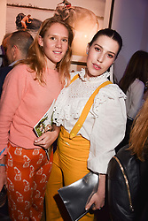 Lara Boglione and Lilly Lewis at Mark Shand's Adventures and His Cabinet Of Curiosities VIP private view, 32 Portland Place, London, England. 20 February 2018.