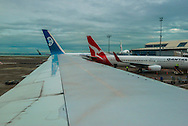 Planes at Auckland airport.