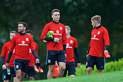 CARDIFF, WALES - Friday, September 2, 2016: Wales' James Chester during a training session at the Vale Resort ahead of the 2018 FIFA World Cup Qualifying Group D match against Moldova. (Pic by David Rawcliffe/Propaganda)