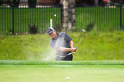 August 5, 2018 - Blaine, MN, U.S. - BLAINE, MN - AUGUST 05: Kenny Perry hits his shot out of the bunker on the second hole during the final round of the 3M Championship on August 8, 2018 at TPC Twin Cities in Blaine, Minnesota. (Photo by David Berding/Icon Sportswire) (Credit Image: © David Berding/Icon SMI via ZUMA Press)