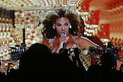 Beyonce performs via plasma screen at the Kickoff of The 2009 Essence Music Festival held at The New Orleans Superdome on July 3, 2009 in New Orleans, Louisiana