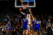 Southern California Trojans guard Daniel Utomi (4) shoots the ball during the first half of an NCAA basketball game against the South Dakota State Jackrabbits, Tuesday, Nov. 12, 2019, in Los Angeles. USC defeated South Dakota State 84-66. (Brandon Sloter/Image of Sport)