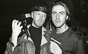Two attendees of a Happy Mondays concert at the Free Trade Hall in Manchester, 1989.