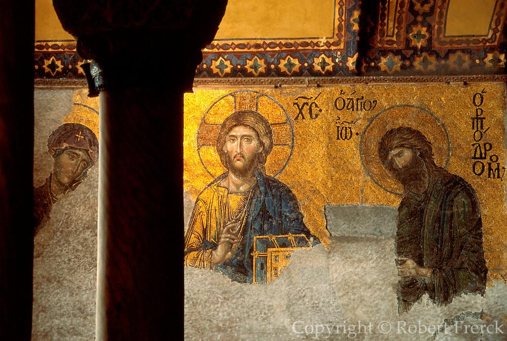 TURKEY, ISTANBUL, BYZANTINE Aya Sofya (Santa Sophia) Deesis