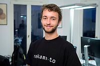 18 JAN 2018, BERLIN/GERMANY:<br /> Florian Reike, Research Analyst Advanced Blockchain AG, CVO nakamo.to, in ihrem Buero Advanced Blockchain AG<br /> IMAGE: 20180118-02-018<br /> KEYWORDS: Start-up, Bitcoin