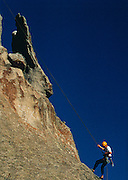 THIS PHOTO IS AVAILABLE FOR WEB DOWNLOAD ONLY. PLEASE CONTACT US FOR A LARGER PHOTO. Idaho. City of Rocks Backcountry Byway. Rockclimbing at City of Rocks near Almo