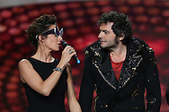 PARIS, FRANCE - FEBRUARY 08:  Virginie Guilhaume and M aka Matthieu Chedid attends Les Victoires de La Musique 2013 at Zenith de Paris on February 8, 2013 in Paris, France.  (Photo by Tony Barson/WireImage)