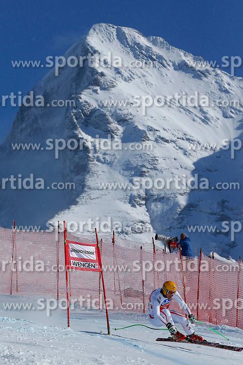 16.01.2013, Lauberhornabfahrt, Wengen, SUI, FIS Weltcup Ski Alpin, Abfahrt, Herren, 2. Training, im Bild Max Franz (AUT) // during 2nd training of Mens Downhill of FIS Ski Alpine World Cup at the Lauberhorn downhill course, Wengen, Switzerland on 2013/01/16. EXPA Pictures © 2013, PhotoCredit: EXPA/ Freshfocus/ Christian Pfander..***** ATTENTION - for AUT, SLO, CRO, SRB, BIH only *****