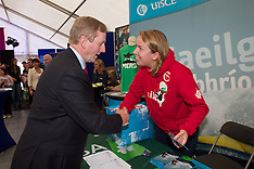 Irish Tent And Enda Kenny at National Ploughing Championships, at Ratheniska, Co. Laois.