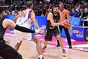 Klaudio Ndoja<br /> Virtus Segafredo Bologna - Red October Cantu<br /> LegaBasket Serie A 2017/2018<br /> Bologna, 07/04/2018<br /> Foto M.Ceretti / Ciamillo - Castoria