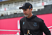 Sussex Sharks head coach Jason Gillespie before the final of the Vitality T20 Finals Day 2018 match between Worcestershire Rapids and Sussex Sharks at Edgbaston, Birmingham, United Kingdom on 15 September 2018.