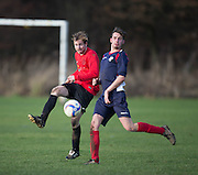 - Monifieth Hurricanes (dark blue) v Fintry Rovers (red)  in the Dundee Saturday Morning Football Dundee Saturday Morning Football Trident Trophies Second Division Cup at Drumgeith, Dundee - Photo: David Young, <br /> <br />  - © David Young - www.davidyoungphoto.co.uk - email: davidyoungphoto@gmail.com