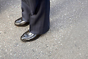 close up of businessman standing