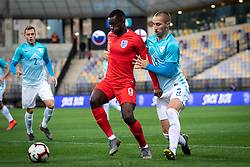 Edward Nketiah of England and Žan Zaletel of Slovenia during friendly Football match between U21 national teams of Slovenia and England, on October 11, 2019 in Ljudski Vrt, Maribor, Slovenia. Photo by Blaž Weindorfer / Sportida