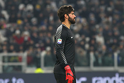 December 23, 2017 - Turin, Piedmont, Italy - Alisson (A.S. Roma)  during the Series A football match between Juventus FC and AS Roma at Allianz Stadium on 23 December, 2017 in Turin, Italy. .Juventus won 1-0 over Roma. (Credit Image: © Massimiliano Ferraro/NurPhoto via ZUMA Press)