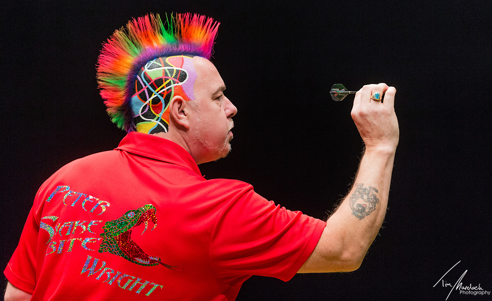 MELBOURNE, Australia - Saturday 19 August 2017:  Peter Wright during the quarter finals of the Unibet Melbourne Dart Masters at Hisense Arena on Saturday 19 August 2017.<br /> <br /> <br /> Photo Credit: Tim Murdoch/Tim Murdoch Photography