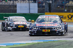 04.05.2014, Hockenheimring, Hockenheim, GER, DTM, 1. Lauf, Hockenheimring, Rennen, im Bild Antonia Felix da Costa (BMW M4 DTM) vor Timo Scheider (Audi RS5 DTM) // during the 1th run of DTM at the Hockenheimring in Hockenheim, Germany on 2014/05/06. EXPA Pictures © 2014, PhotoCredit: EXPA/ Eibner-Pressefoto/ Neis<br /> <br /> *****ATTENTION - OUT of GER*****