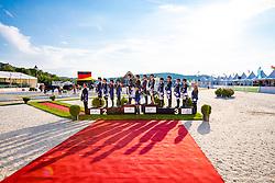 Podium Nations <br /> 1. Germany : Juliette Piotrowski, Sannek Rothenberger, Nadine Husenbeth, Florine Kienbaum<br /> 2. The Netherlands : Stephanue Kooijman, Danielle Hout vast, Anne Meulendijks, Maxime Van Der Vlist<br /> 3. Sweden : Josefin Gyllenswärd, Marina Mattdon, Sauna Nilsson, Mathilde Hannell<br /> European Dressage Championships U25 - Hagen 2016<br /> © Hippo Foto - Leanjo de Koster<br /> 17/06/16