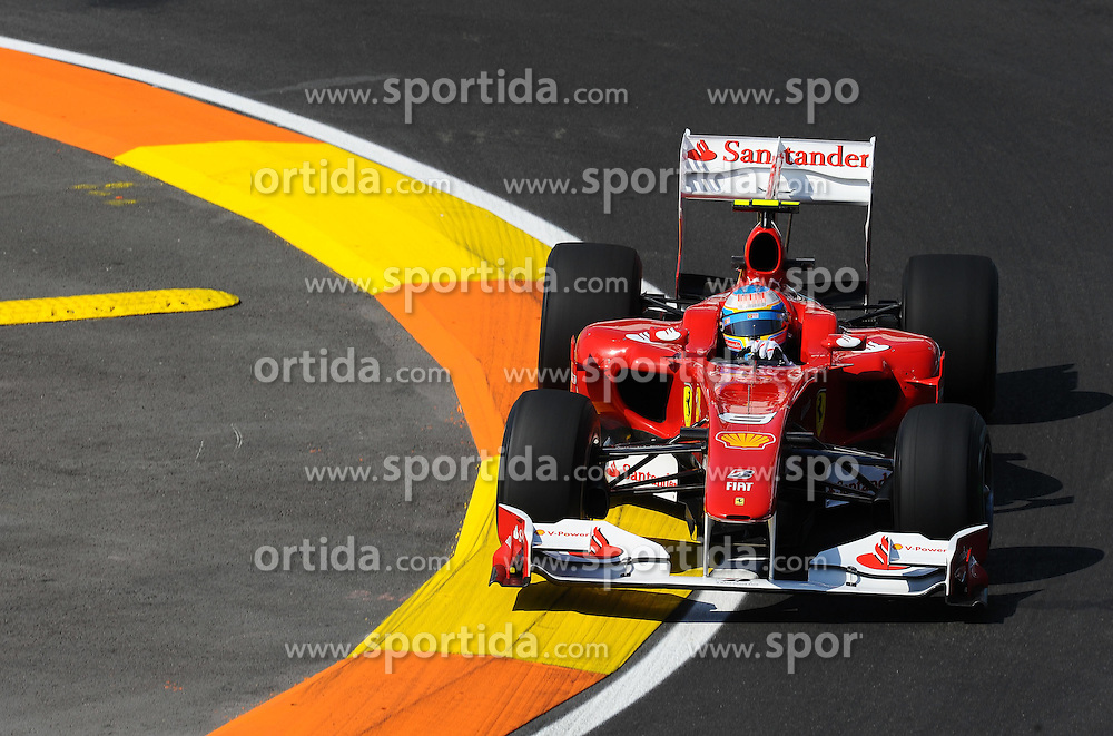 25.06.2010, Street Circuit, Valencia, ESP, Formula One Championship, Telefonica Grand Prix of Europe, im Bild Fernando Alonso (ESP),  Scuderia Ferrari.. EXPA Pictures © 2010, PhotoCredit: EXPA/ InsideFoto/ Brantic +++ for AUT and SLO only +++ / SPORTIDA PHOTO AGENCY
