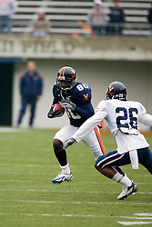 Virginia Cavaliers WR Maurice Covington (80) rushes up field during the UVA Spring game.  The University of Virginia Football Team played their Spring game at Scott Stadium in Charlottesville, VA on April 14, 2007.