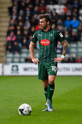 Graham Carey (10) of Plymouth Argyle during the EFL Sky Bet League 2 match between Plymouth Argyle and Accrington Stanley at Home Park, Plymouth, England on 1 April 2017. Photo by Graham Hunt.