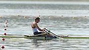 Varese,  ITALY. 2012 FISA European Championships, Lake Varese Regatta Course. ..Men's Single Sculls, GBR M1X . Graeme THOMAS, qualifying for Sundays A Final place..12:23:54  Saturday  15/09/2012 .....[Mandatory Credit Peter Spurrier:  Intersport Images]  ..2012 European Rowing Championships Rowing, European,  2012 010850.jpg.....