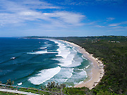View of Tallow Beach from near the Byron Bay Lighthouse, Byron Bay, NSW, Australia