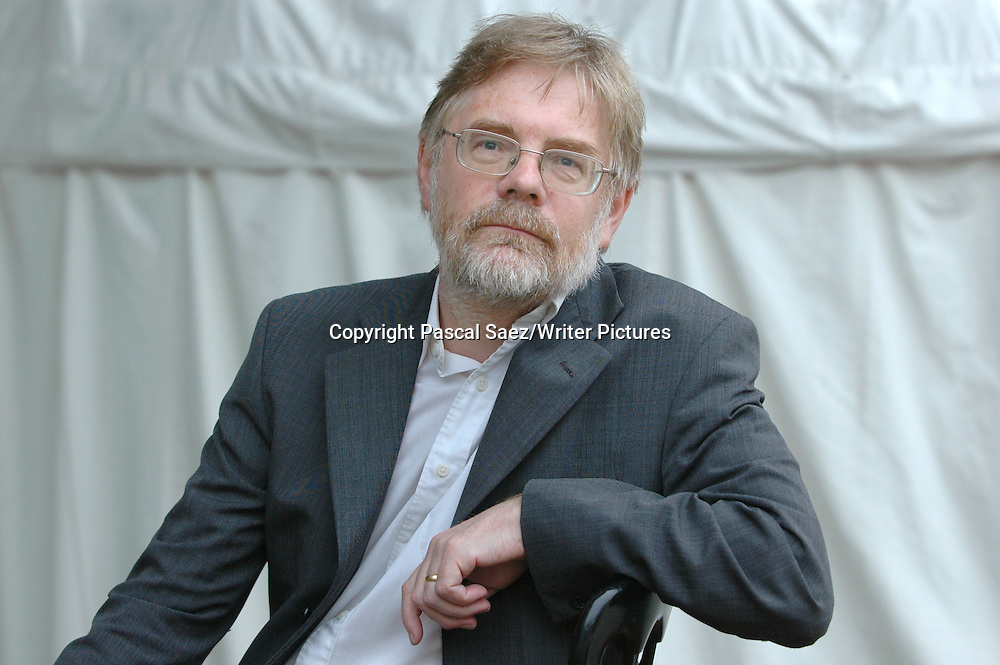 Writer and environmental thinker Fred Pearce at the Edinburgh International Book Festival.<br /> <br /> Copyright Pascal Saez/Writer Pictures<br /> <br /> contact +44 (0)20 8241 0039<br /> sales@writerpictures.com<br /> www.writerpictures.com