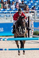 Bruynseels Niels, BEL, Cas de Liberte<br /> Tryon - FEI World Equestrian Games™ 2018<br /> Springen Zeitspringprüfung Teamwertung Einzelwertung 1 Runde<br /> 19. September 2018<br /> © www.sportfotos-lafrentz.de/Dirk Caremans