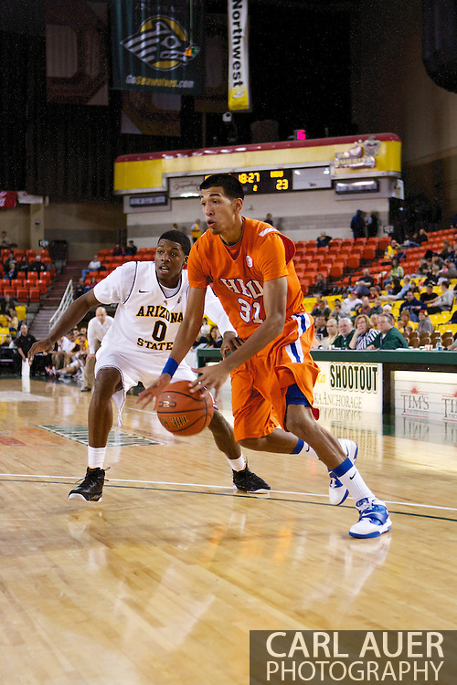 November 25th, 2010:  Anchorage, Alaska - Houston Baptist forward Andrew Gonzalez (31) drives in the Huskies 55-73 loss to Arizona State at the Great Alaska Shootout.  Gonzalez led all scorers with 26 points.