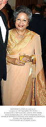 BARONESS FLATHER at a dinner in London on 13th April 2004.PTF 19 WO