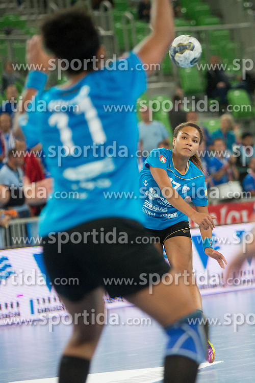 Elizabeth Omoregie of RK Krim Mercator during handball match between RK Krim Mercator (SLO) and HC Leipzig (GER) in 6th Round of Women's EHF Champions League 2014/15, on November 21, 2014 in Arena Stozice, Ljubljana, Slovenia. Photo by Urban Urbanc / Sportida