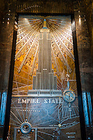US, New York City. Lobby, Empire State Building.