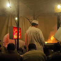 Street food stand at Marrakesh's Jema El Fnaa square