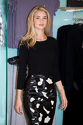 © licensed to London News Pictures. London, UK 16/10/2013. Rosie Huntington-Whiteley launches her new M&S collection, 'Rosie for Autograph Sleepwear' at M&S store in Marble Arch, London. Photo credit: Tolga Akmen/LNP