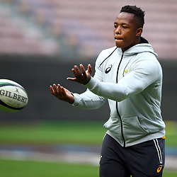 Sibusiso Nkosi of South Africa during the South African - Springbok Captain's Run at DHL Newlands Stadium. Cape Town.South Africa. 22,06,2018 23,06,2018 Photo by (Steve Haag JMP)