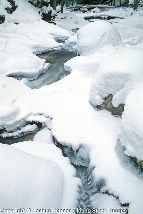 IDAHO. Near Bonners Ferry. Myrtle Creek in Winter.