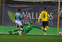 Football - 2019 / 2020 EFL Carabao (League) Cup - Quarter-Final: Oxford United vs. Manchester City<br /> <br /> Raheem Sterling of Man City scores goal no 3 past Oxford goalkeeper, Jordan Archer, at Kassam Stadium<br /> <br /> COLORSPORT/ANDREW COWIE