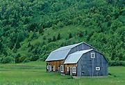 Old barn  on Gaspe Peninsula<br /> Manche-d'Épée<br /> Quebec<br /> Canada