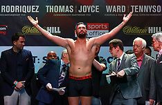 David Haye and Tony Bellew Weigh-In - O2 Arena - 05 May 2018