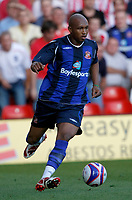 Photo: Steve Bond/Richard Lane Photography. Nottingham Forest v Sunderland. Pre Season Friendy. 29/07/2008. El Hadji Diouf comes away with the ball