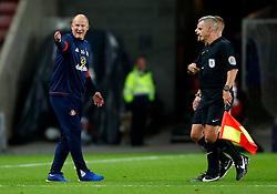 Sunderland manager Simon Grayson complains to the officials at full time - Mandatory by-line: Matt McNulty/JMP - 04/08/2017 - FOOTBALL - Stadium of Light - Sunderland, England - Sunderland v Derby County - Sky Bet Championship