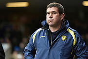 Burton Albion manager Nigel Clough during the EFL Sky Bet Championship match between Ipswich Town and Burton Albion at Portman Road, Ipswich, England on 10 February 2018. Picture by Richard Holmes.