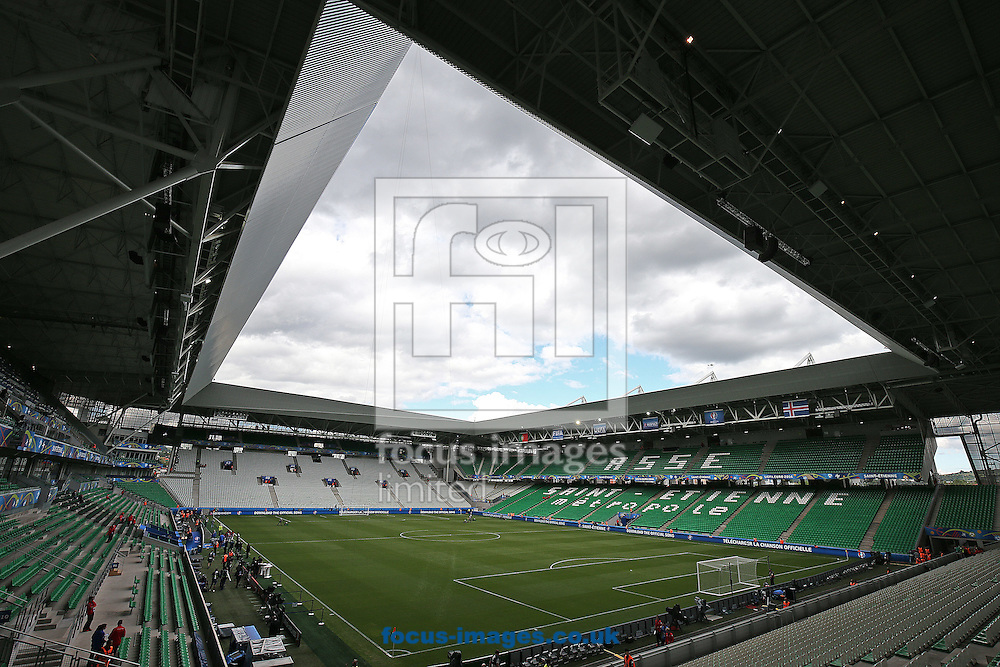 General views of the Stadium before the UEFA Euro 2016 match at Stade Geoffroy-Guichard, Saint-&Eacute;tienne, France. <br /> Picture by Paul Chesterton/Focus Images Ltd +44 7904 640267<br /> 14/06/2016