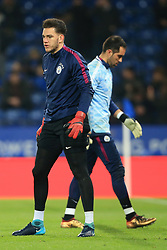 19th December 2017 - Carabao Cup (Quarter Final) - Leicester City v Manchester City - Man City goalkeeper Ederson (L) and Man City goalkeeper Claudio Bravo - Photo: Simon Stacpoole / Offside.
