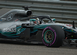 October 20, 2018 - Austin, USA - Mercedes AMG Petronas driver Lewis Hamilton (44) of Great Britain heads toward Turn 11 during qualifying at the Formula 1 U.S. Grand Prix at the Circuit of the Americas in Austin, Texas on Saturday, Oct. 20, 2018. Hamilton set a new track record and earned pole position for the Grand Prix on Sunday. (Credit Image: © Scott Coleman/ZUMA Wire)