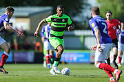 Forest Green Rovers Reuben Reid(26) runs forward during the EFL Sky Bet League 2 match between Forest Green Rovers and Exeter City at the New Lawn, Forest Green, United Kingdom on 4 May 2019.